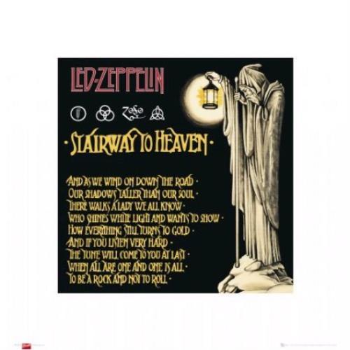 Led Zeppelin Stairway To Heaven Art Print Uk Poster 396645