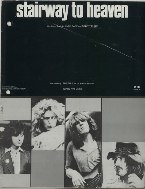 Led Zeppelin Stairway To Heaven sheet music US ZEPSMST447313