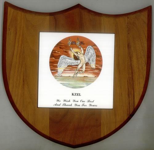Led Zeppelin Swan Song Dedication Plaque memorabilia US ZEPMMSW543589