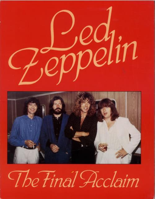 Led Zeppelin The Final Acclaim book UK ZEPBKTH550089