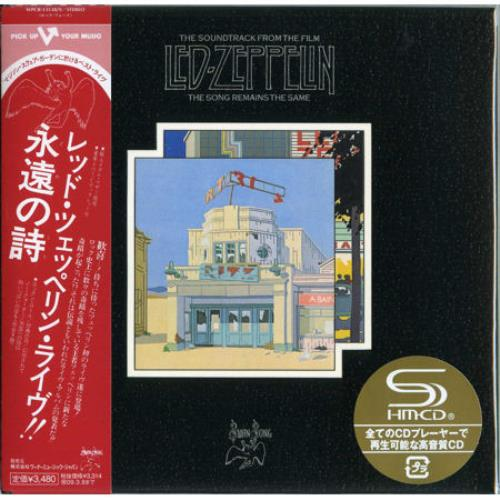 Led Zeppelin The Song Remains The Same Japanese Shm Cd