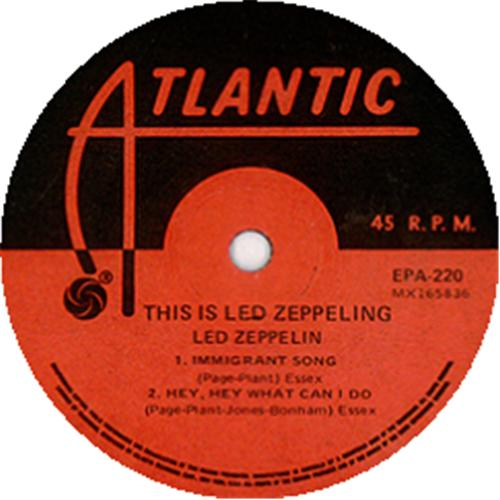 Led Zeppelin This Is Led Zeppelin Misprinted Label
