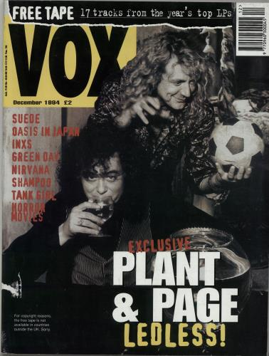 Led Zeppelin Vox - December 1994 magazine UK ZEPMAVO280826