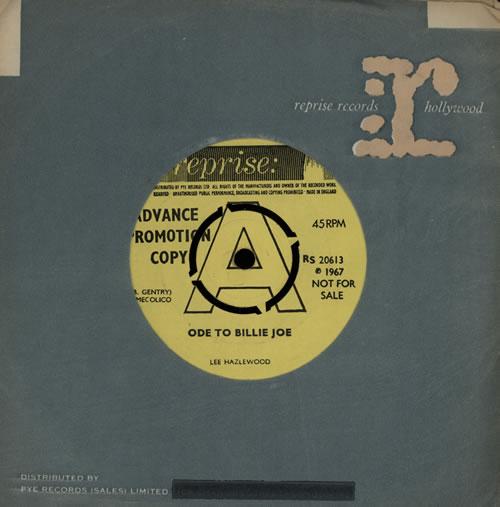 "Lee Hazlewood Ode To Billie Joe - A Label 7"" vinyl single (7 inch record) UK LHZ07OD569582"