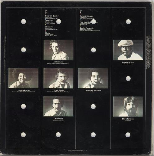 Lee Ritenour Gentle Thoughts vinyl LP album (LP record) Japanese LRZLPGE726734