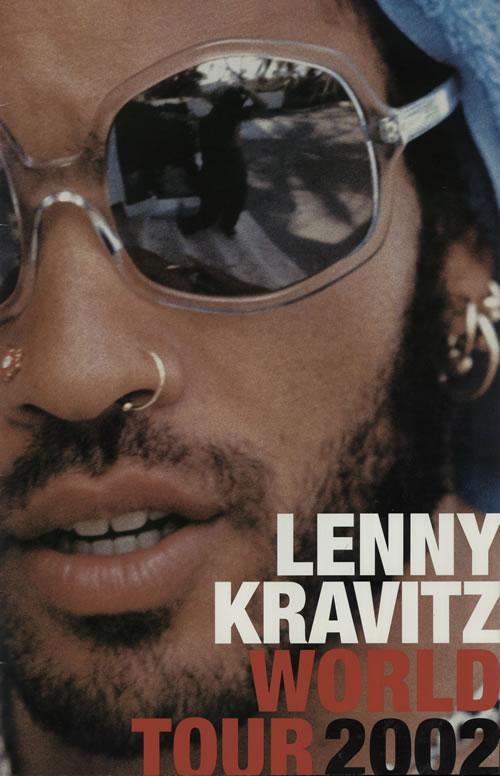Lenny Kravitz World Tour 2002 tour programme UK KVZTRWO701880