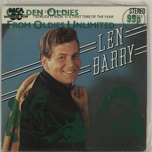 "Len Barry Len Barry EP - Sealed 7"" vinyl single (7 inch record) UK LBY07LE636608"