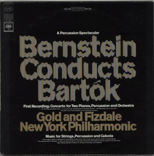 Leonard Bernstein Bernstein Conducts Bartok vinyl LP album (LP record) US 5LBLPBE670114