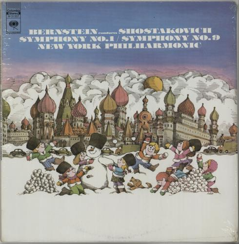 Leonard Bernstein Shostakovich: Symphony No. 1 / Symphony No. 9 - Sealed vinyl LP album (LP record) US 5LBLPSH650098