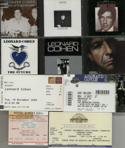 Leonard Cohen Quantity Of Albums CD album (CDLP) UK COHCDQU622548