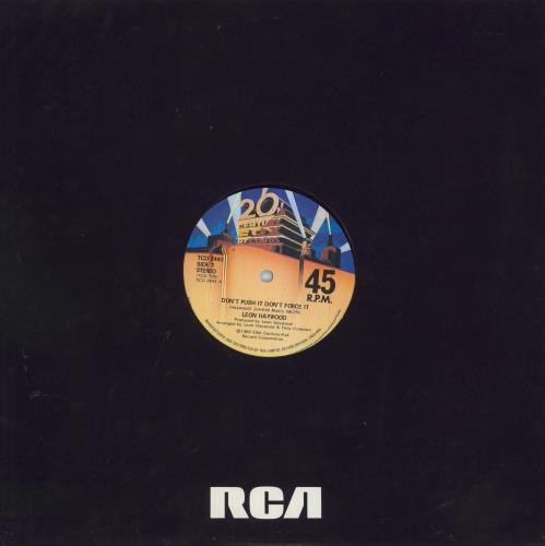 "Leon Haywood Don't Push It Don't Force It 12"" vinyl single (12 inch record / Maxi-single) UK LH112DO553236"
