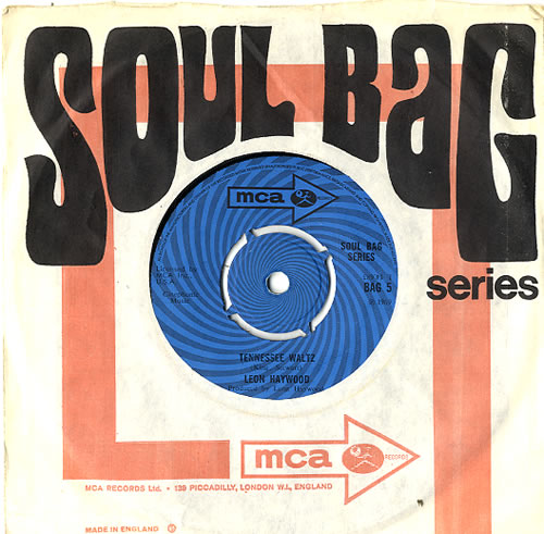 "Leon Haywood Tennessee Waltz 7"" vinyl single (7 inch record) UK LH107TE594289"
