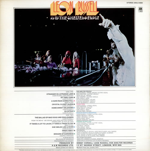 Leon Russell Leon Russell And The Shelter People 1st Uk