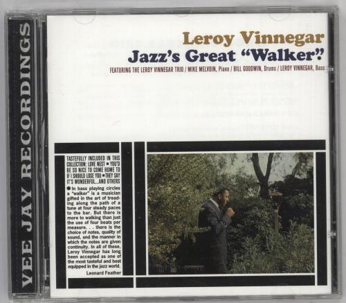 "Leroy Vinnegar Jazz's Great ""Walker"" CD album (CDLP) Spanish LJ5CDJA742153"