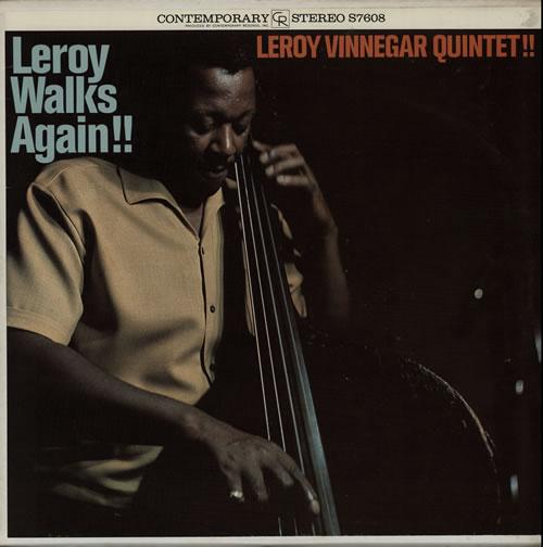 Leroy Vinnegar Leroy Walks Again! vinyl LP album (LP record) US LJ5LPLE565662
