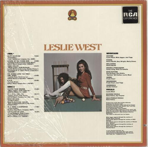 Leslie West The Great Fatsby - shrink vinyl LP album (LP record) US L-WLPTH309324
