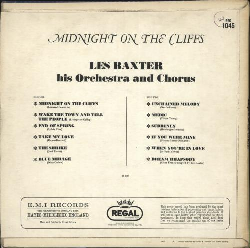 Les Baxter Midnight On The Cliffs vinyl LP album (LP record) UK 3LBLPMI699893