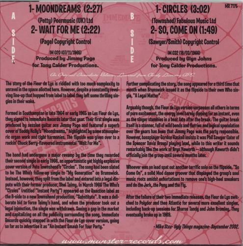 "Les Fleur De Lys Circles E.P. 7"" vinyl single (7 inch record) Spanish FDL07CI765120"