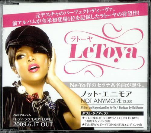 """LeToya Not Anymore CD single (CD5 / 5"""") Japanese LT_C5NO503358"""
