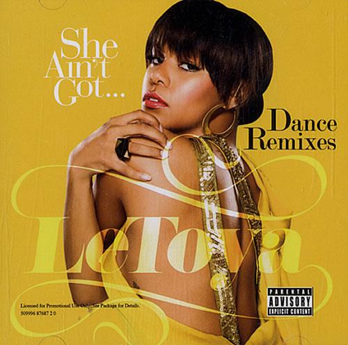 "LeToya She Ain't Got... Dance Remixes CD single (CD5 / 5"") US LT_C5SH483391"