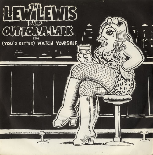 "Lew Lewis Out For A Lark 7"" vinyl single (7 inch record) UK LWZ07OU561306"