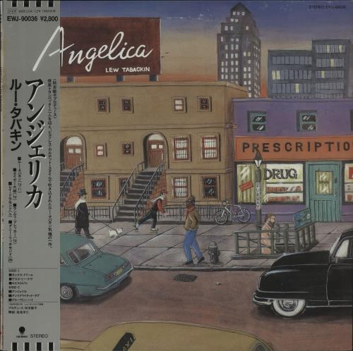 Lew Tabackin Angelica - White Label + Obi vinyl LP album (LP record) Japanese LTKLPAN678907