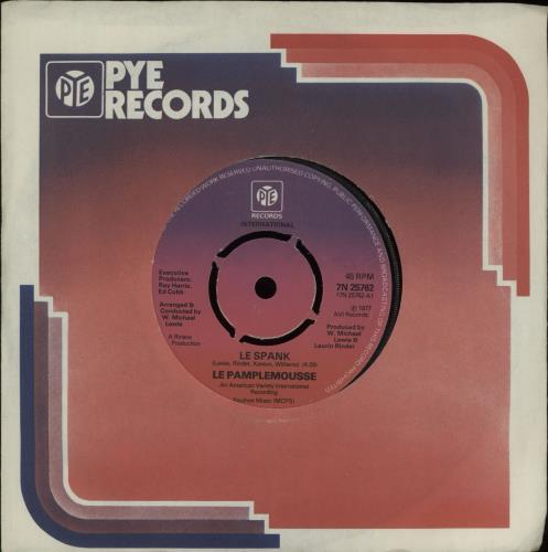 """Le Pamplemousse Le Spank 7"""" vinyl single (7 inch record) UK OEA07LE662663"""