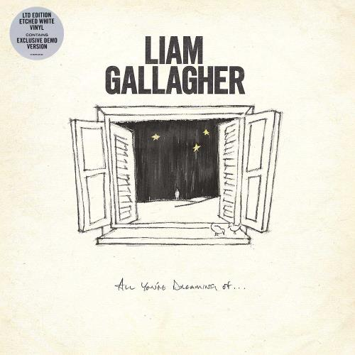 """Liam Gallagher All You're Dreaming Of - White Vinyl Etched - Sealed 12"""" vinyl single (12 inch record / Maxi-single) UK LGL12AL758981"""