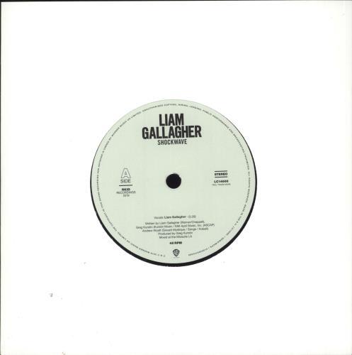"Liam Gallagher Shockwave - Etched 7"" vinyl single (7 inch record) UK LGL07SH722856"