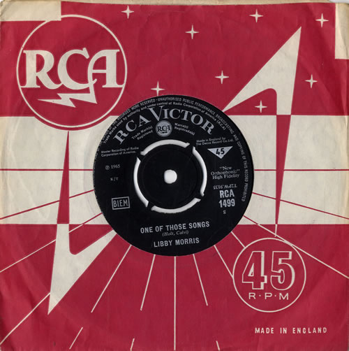 """Libby Morris One Of Those Songs 7"""" vinyl single (7 inch record) UK L0K07ON547735"""