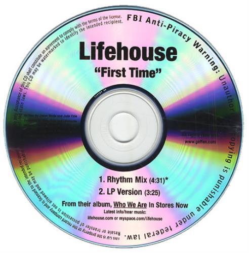 Lifehouse First Time CD-R acetate US LHECRFI414581