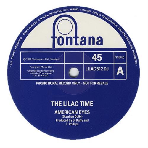 "Lilac Time American Eyes 12"" vinyl single (12 inch record / Maxi-single) UK LIL12AM61211"