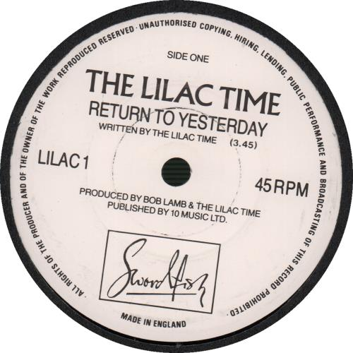 "Lilac Time Return To Yesterday - Swordfish 7"" vinyl single (7 inch record) UK LIL07RE62830"
