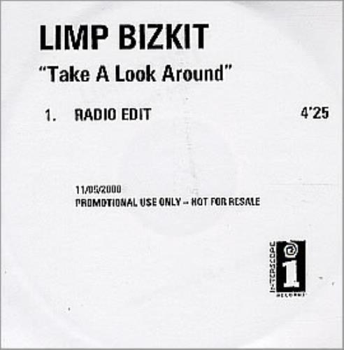 Limp Bizkit Take A Look Around CD-R acetate UK BZKCRTA158598
