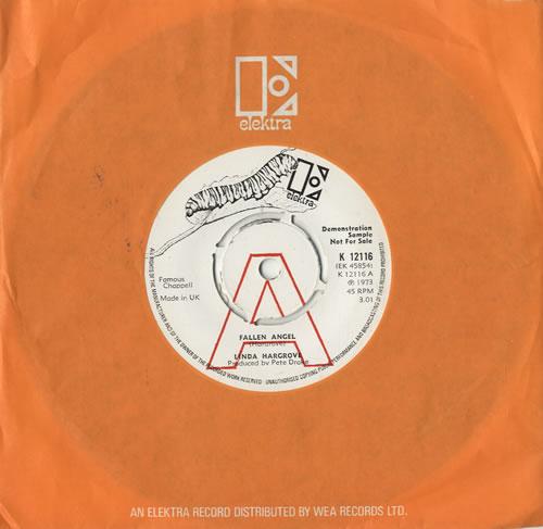 "Linda Hargrove Fallen Angel 7"" vinyl single (7 inch record) UK 5LH07FA482509"