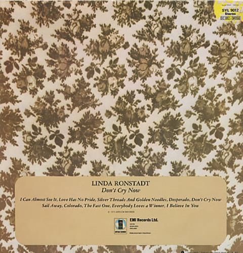 Linda Ronstadt Don't Cry Now vinyl LP album (LP record) UK LIRLPDO374030