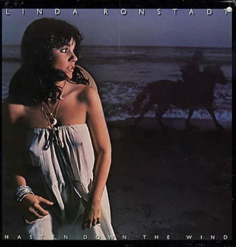 Linda Ronstadt Hasten Down The Wind + lyric inner vinyl LP album (LP record) UK LIRLPHA288389