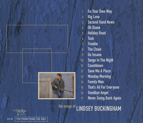 Lindsey Buckingham The Songs Of Lindsey Buckingham UK Promo CD album (CDLP)