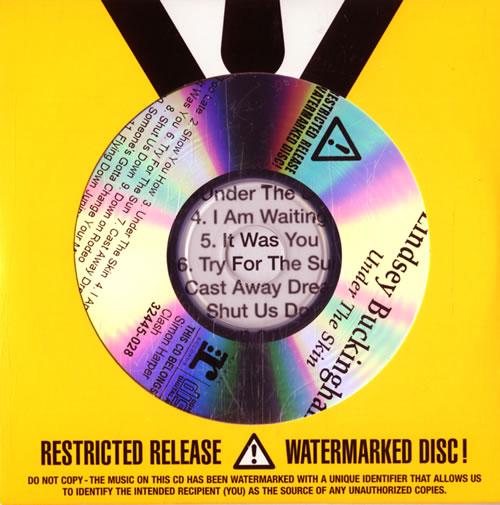 Lindsey Buckingham Under The Skin - Sealed CD-R acetate UK LINCRUN579649