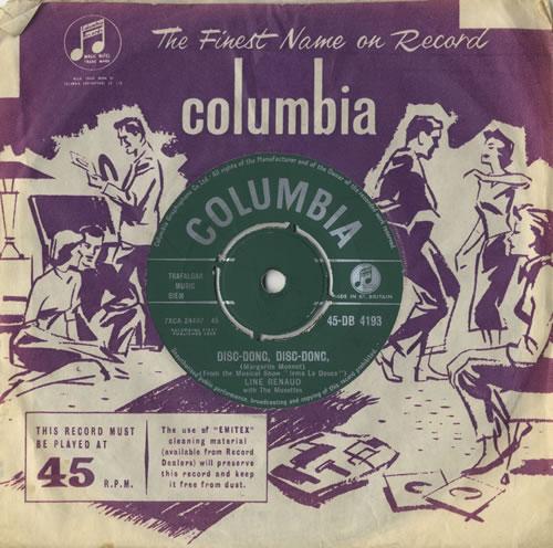 "Line Renaud Disc-Donc, Disc-Donc 7"" vinyl single (7 inch record) UK LXN07DI515303"