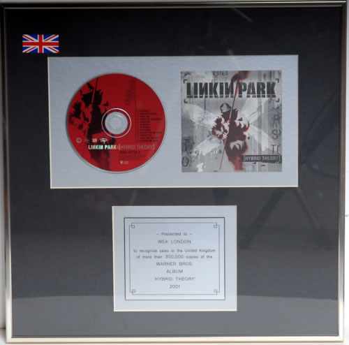 Linkin Park Hybrid Theory Uk Award Disc 591459