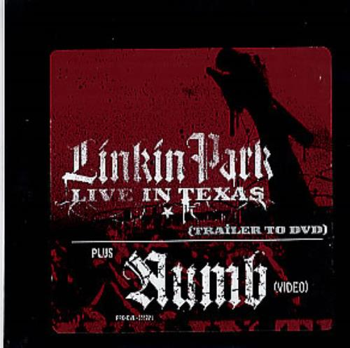 Linkin Park Live In Texas Trailer US Promo DVD Single (285731)