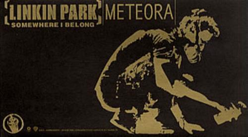 Linkin Park Somewhere I Belong Taiwanese Promo CD single