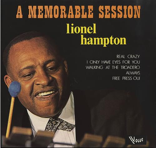 Lionel Hampton A Memorable Session vinyl LP album (LP record) French LI0LPAM404830