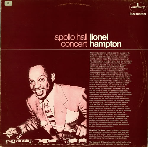 Lionel Hampton Apollo Hall Concert vinyl LP album (LP record) Dutch LI0LPAP472401
