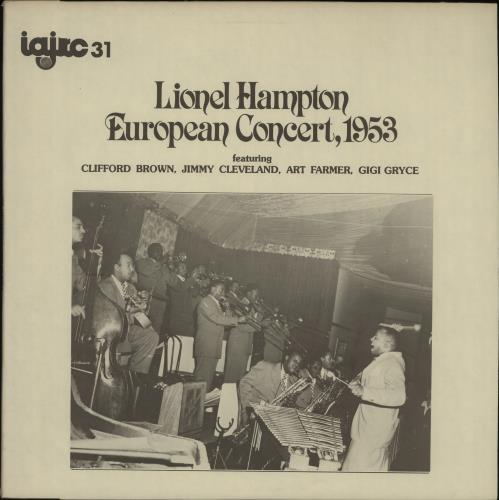 Lionel Hampton European Concert, 1953 vinyl LP album (LP record) Canadian LI0LPEU668091