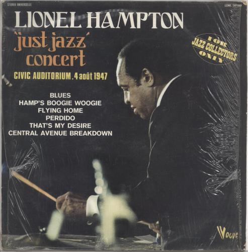 Lionel Hampton 'Just Jazz' Concert vinyl LP album (LP record) French LI0LPJU726244