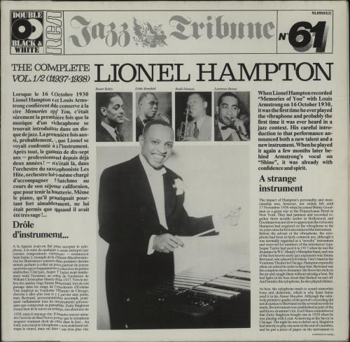 Lionel Hampton The Complete Lionel Hampton Vol. 1/2 (1937-1938) 2-LP vinyl record set (Double Album) German LI02LTH678238