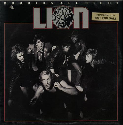 Lion Running All Night - Promo Stickered vinyl LP album (LP record) UK LYVLPRU636245