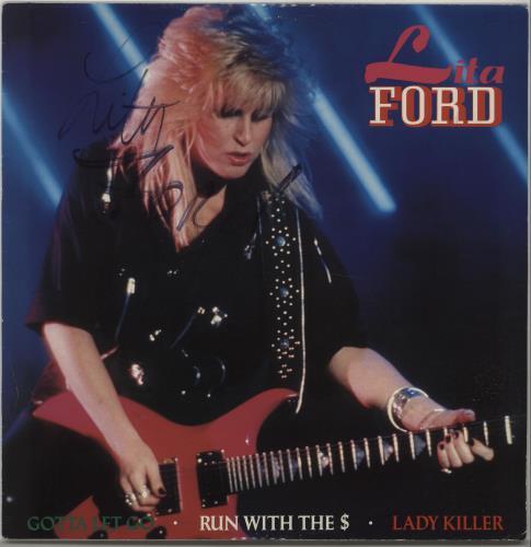 "Lita Ford Gotta Let Go - Autographed 12"" vinyl single (12 inch record / Maxi-single) UK LTF12GO667053"